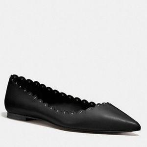 """Coach """"Jill"""" Leather Ballet Flat"""